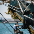 painting the anchor,Palinuro. tall ships, tall ships regatta, Alicante,sea fever