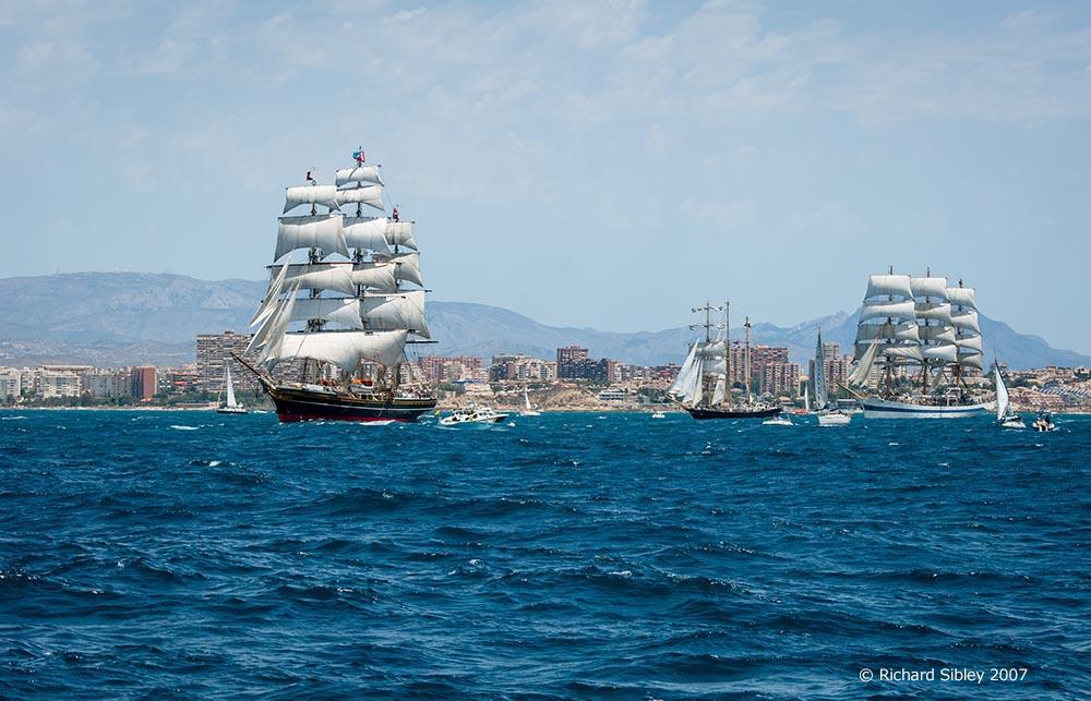 stad amsterdam,kaliakra,mir. tall ships, tall ships regatta, Alicante,sea fever