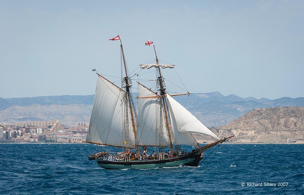 pandora,tall ship,tall ships race, alicante,sea fever