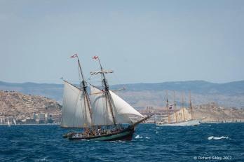pandora,creoula,tall ship,tall ships race, alicante,sea fever