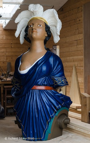 HMS Chesapeake 1855,maritima woodcarving,andy peters,figurehead, ships figurehead,historic ship