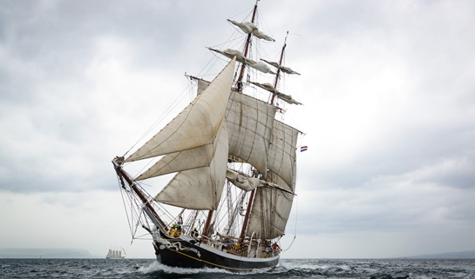 Clipper Brig Morgenster #tallshipsbelfast #MorgensterVOF