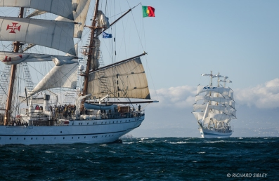 NRP Sagres and MIR. Race start, Lisbon 2012