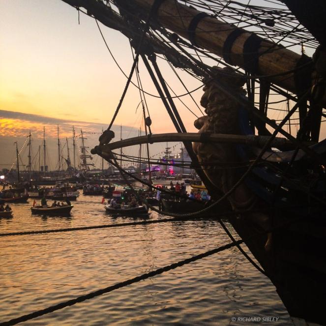 Evening parade - Sail Amsterdam 2015