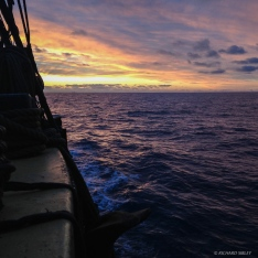 Sunrise off the Dutch coast