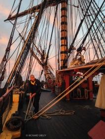 MOB drill at Sunrise off the Dutch coast