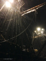 On Gangway watch in a storm - Dover Harbour