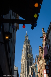 Cathedral of Our Lady and some Hanseatic gables. Antwerp 2010