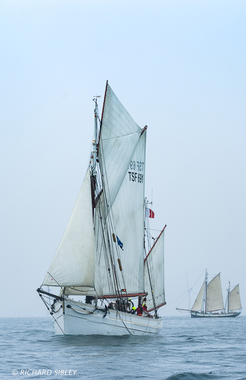 The French Gaff Yawl 'Mutin' from Tecla, Netherlands. On the start line Antwerp 2010