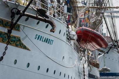 Norwegian full rigger Sorlandet. Antwerp Tall Ships Race 2010
