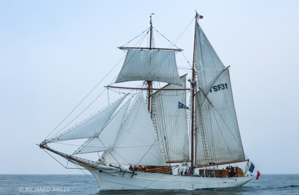 The French Topsail Schooner 'Etoile' on the start line Antwerp 2010