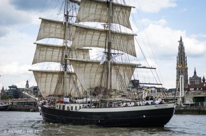 Dutch Brig, Mercedes Parade of Sail. Antwerp Tall Ships Race 2010