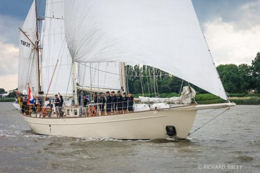 Dutch Ketch, Urania. Parade of Sail. Antwerp Tall Ships Race 2010