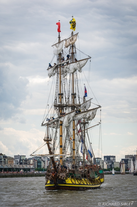 Russian Full Rigger Shtandart - Parade of Sail. Antwerp Tall Ships Race 2010