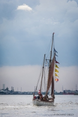 Austrian Gaff Ketch, Aglaia. Antwerp Tall Ships Race 2010