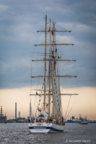 Polish Barquentine, Porgoria. Parade of Sail. Antwerp Tall Ships Race 2010