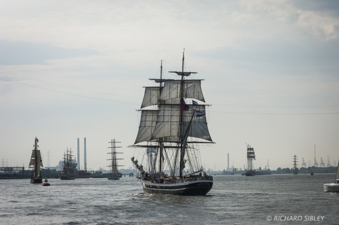 Dutch Clipper Brig Morgenster. Parade of Sail. Antwerp Tall Ships Race 2010