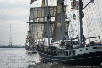 Dutch Barquentine Thalassa. Parade of Sail, Antwerp Tall Ships Race 2010
