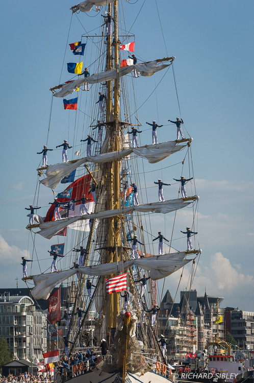 Barquentine 'Dewaruci' Indonesia. Parade of Sail. Antwerp Tall Ships Race 2010