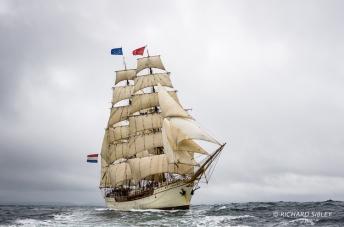 Barque Europa, Netherlands. Lerwick race start