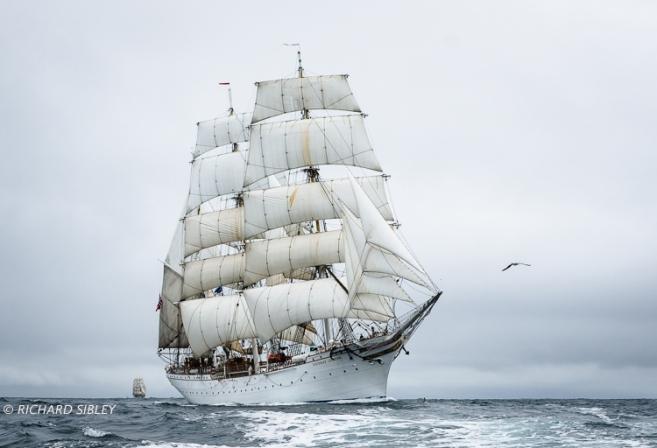 Norwegian Barque, Statsraad Lehmkuhl. Tall Ships Race,Lerwick,