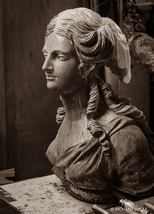 Andy Peters,Maritima Wood Carving,HMS Arethusa 1849
