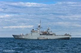 The start vessel a Finnish mine Sweeper