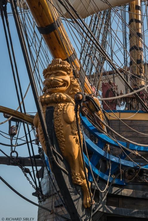 """Göta Leo"" - The Lion Figurehead on The Swedish Ship Gotheborg"