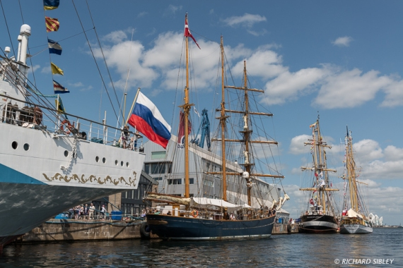 Russian Full Rigger MIR, Schooner LOA, Pelican of London and Zawisza Czarny, Poland