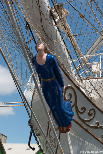 Christina - Figurehead on the Norwegian Full Rigger, Christian Radich