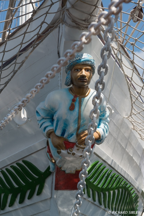 Figurehead on the Omani Barquentine Shabab Oman