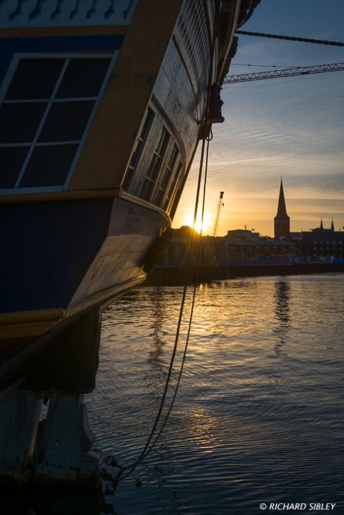 Evening in Aarhus, the Swedish Ship Gotheborg
