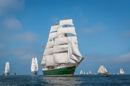 Norwegian Barque Statsraad Lehmkuhl, Russian Full Rigger MIR, German Barque Alexander von Humboldt II, Pelican of London and Finish Schooner Albanus