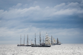 Pogoria, Lord Nelson, Guayas and Stavros S Niarchos