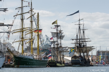 Aleander von Humboldt II, Russian Frigate Shtandart and the Swedish Ship Gotheborg