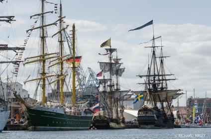 Aleander von Humboldt II, Russian Frigate Shtandart and the Swedish Ship Gotheborg