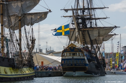 Russian Frigate Shtandart and the Swedish Ship Gotheborg