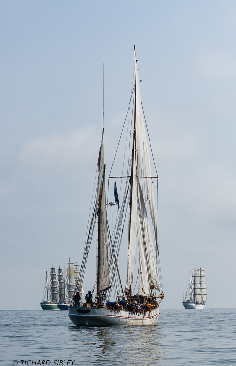 Alex II, Tenacious, Danish Ketch Jens Krogh and Cuauhtemoc