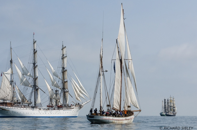 Norwegian Barque Statsraad Lehmkuhl,Danish Ketch Jens Krogh, Alex II and Tenacious