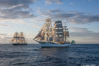 Barque Lord Nelson, Full rigger Sorlandet and Barque Alexander von Humboldt