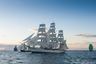 Schooner Estelle, Finland. Full Rigger, Cisne Branco, Brazil and Barque Alexander von Humboldt, Germany