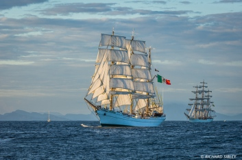 Mexican Barque, Cuauhtemoc And Brazillian Full Rigger Cisne Branco