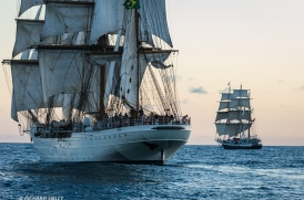 Brazillian Full Rigger Cisne Branco and Lord Nelson