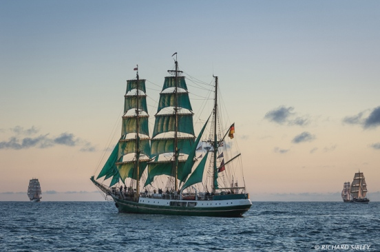 Christian Radich, German Barque Alexander von Humboldt, Morgenster and Pelican