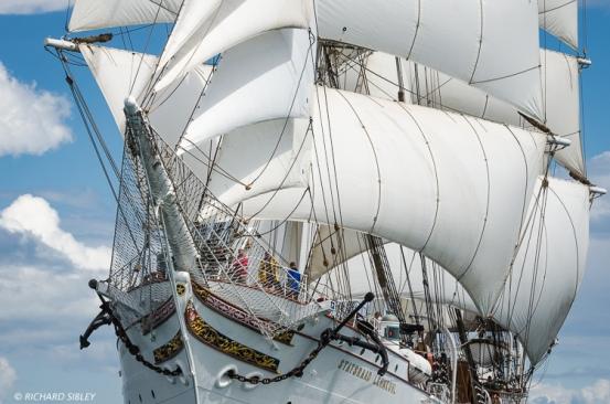 3 Masted barque, Statsraad Lehmkukl, Norway. Torbay - Lisbon
