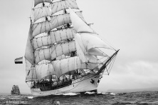 Dutch barque Europa, known to her crew as the Ocean Wanderer.