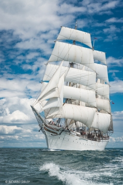 3 Masted barque, Statsraad Lehmkuhl,, Norway. Torbay - Lisbon