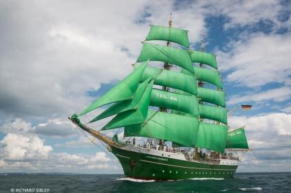 3 Masted barque, Aleander von Humboldt ll, Germany. Torbay - Lisbon 2016
