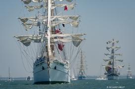 Mexican barque Cuauhtémoc, Mir, Simon Bolivar and Statsraad Lehmkuhl