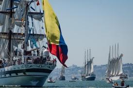 Venezuelan barque, Simon Bolivar, Vera Cruz, Principe Perfeito and Santa Maria Manuela